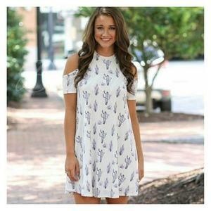Dresses & Skirts - Cold shoulder cactus dress